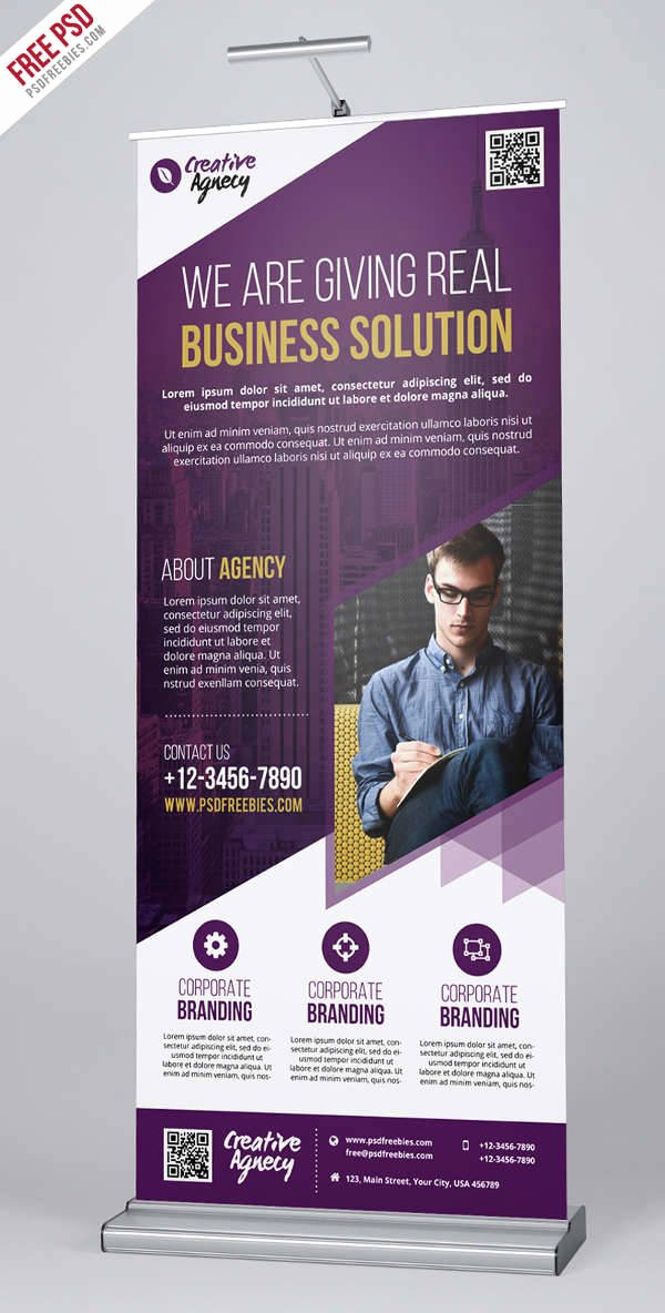 Retractable Banner Template Psd Awesome 20 Advertising Banners