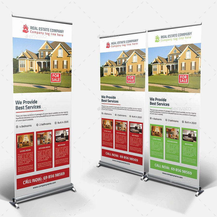 Retractable Banner Template Psd Awesome Real Estate Rollup Banner Psd Template by Pixelpick