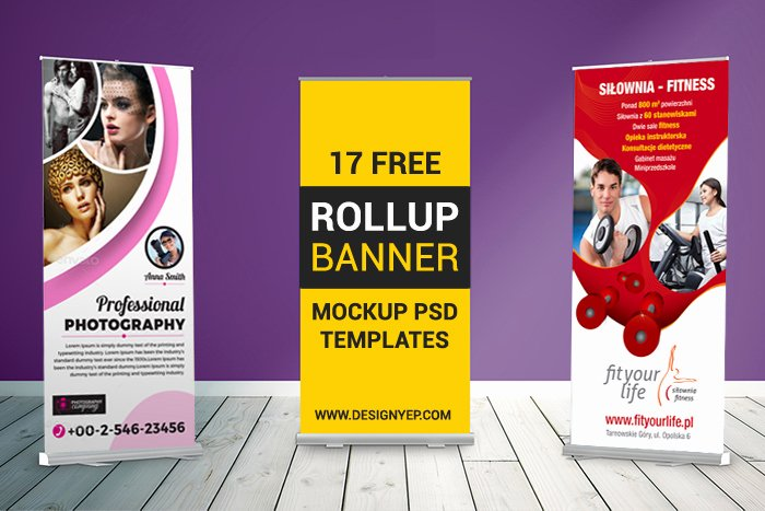 Retractable Banner Template Psd Fresh 17 Free Roll Up Banner Mockup Psd Templates Designyep Pull