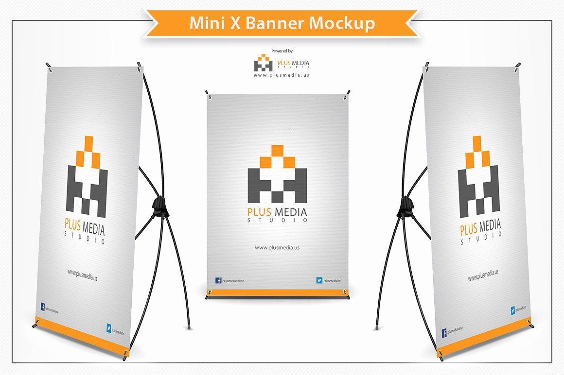 Retractable Banner Template Psd Fresh Mini X Banner Mockup Product Mockups On Creative Market