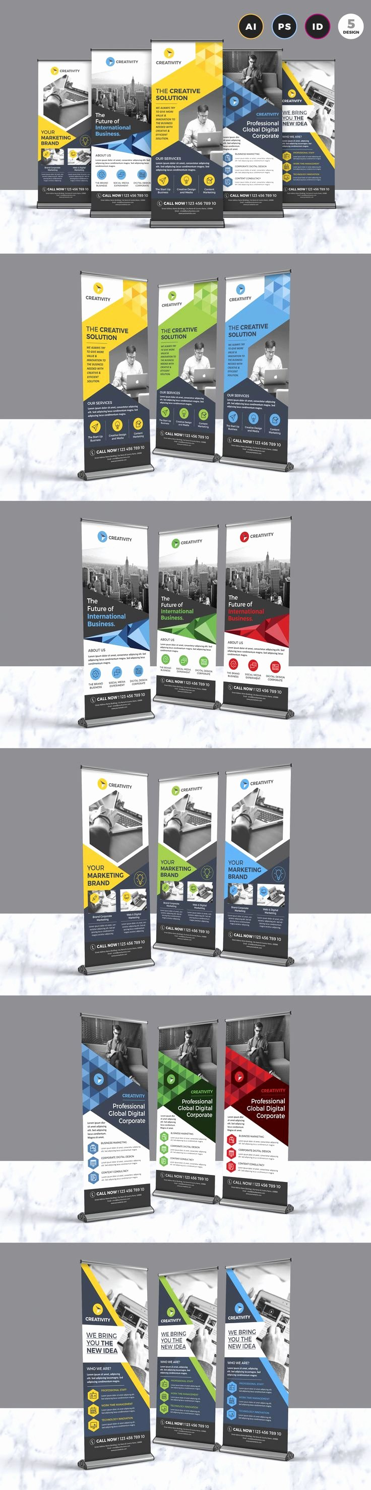 Retractable Banner Template Psd Luxury Standing Banner Template Shop Awesome Retractable