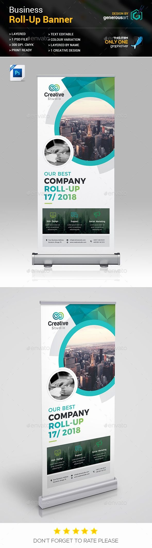 Retractable Banner Template Psd New Roll Up Banner Template Psd