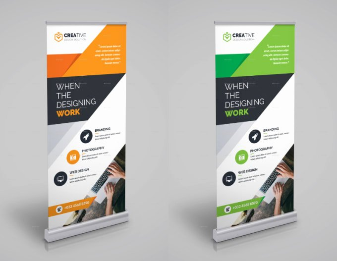 Retractable Banner Template Psd Unique Design Professional Roll Up and Retractable Banner by S