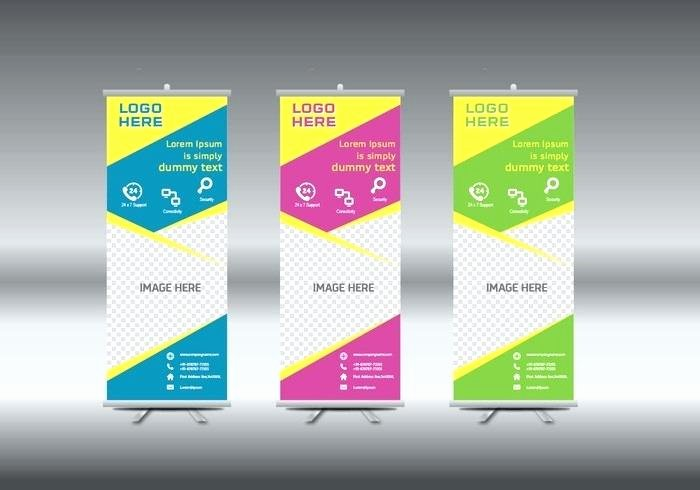 Retractable Banner Template Psd Unique Roll Up Banner Template Vector Illustration Pop Design