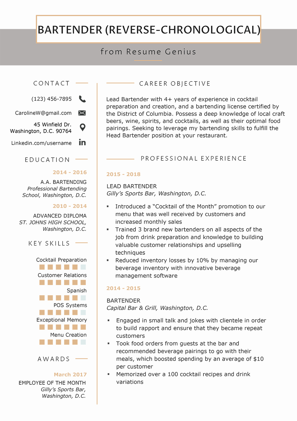 Reverse Chronological Resume Template Beautiful Resume format Mega Guide