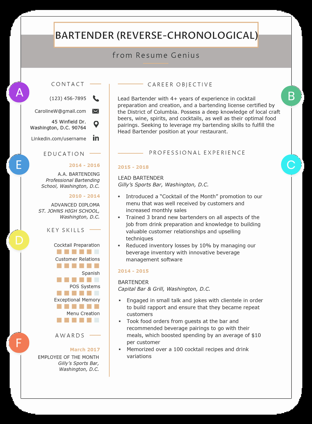 Reverse Chronological Resume Template Best Of Chronological Resume Samples & Writing Guide