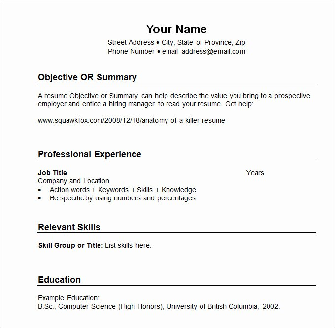 Reverse Chronological Resume Template Fresh Chronological Resume Template 23 Free Samples Examples