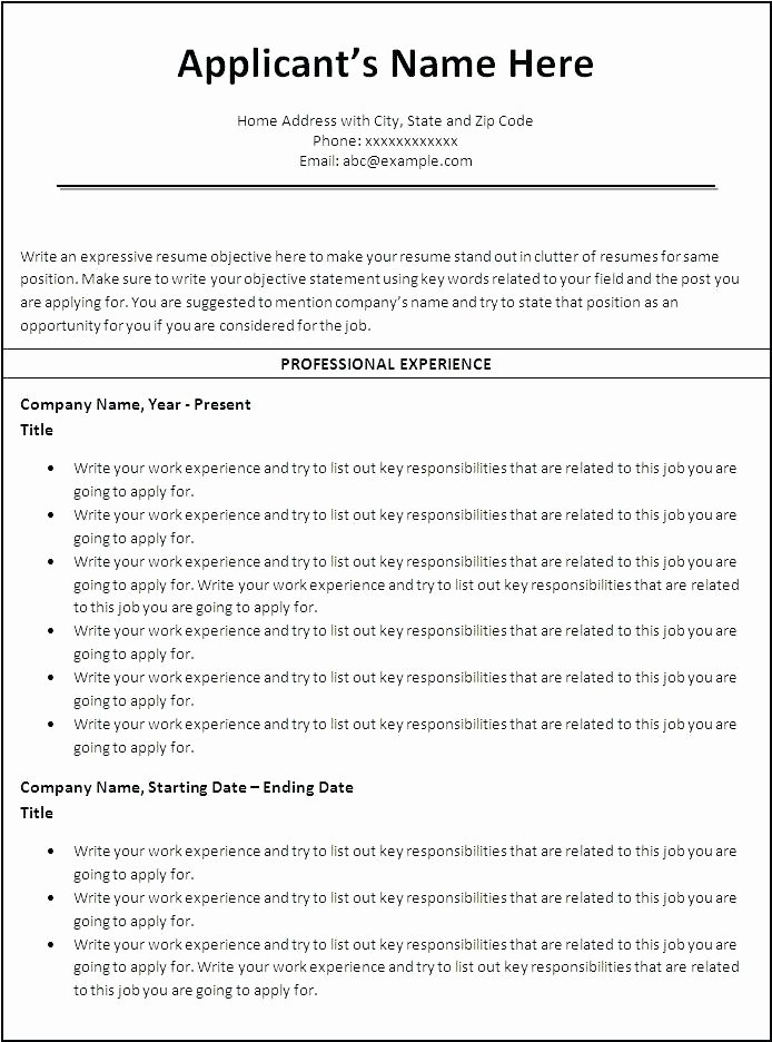 Reverse Chronological Resume Template Inspirational Reverse Chronological Resume Template Download Jobs In