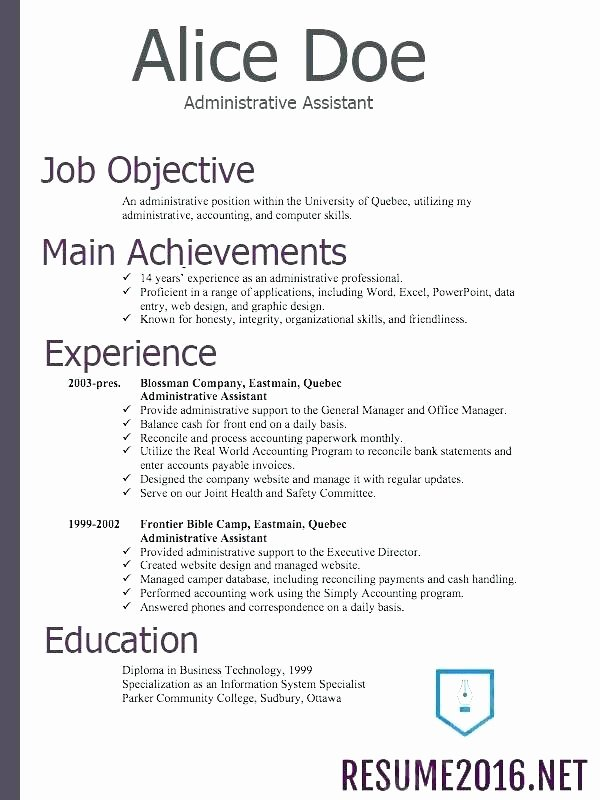 Reverse Chronological Resume Template Inspirational Reverse Chronological Resume Template Word order Resumes