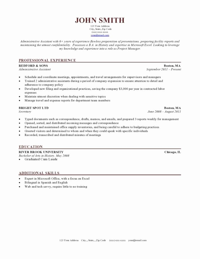 Reverse Chronological Resume Template Lovely Chronological Resume format