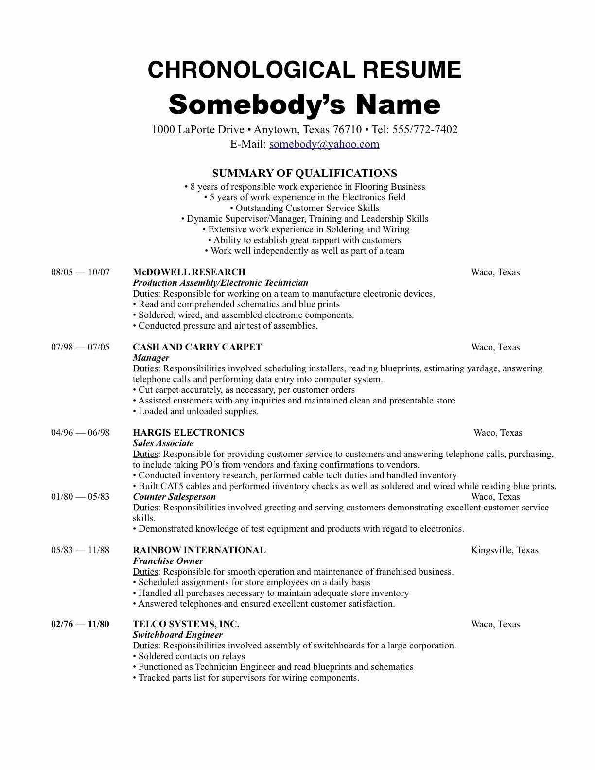 Reverse Chronological Resume Template Luxury Chronological order Resume Example Dc0364f86 the Most