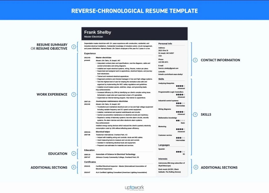 Reverse Chronological Resume Template Luxury Resume and Template 45 Chronological Resume Template