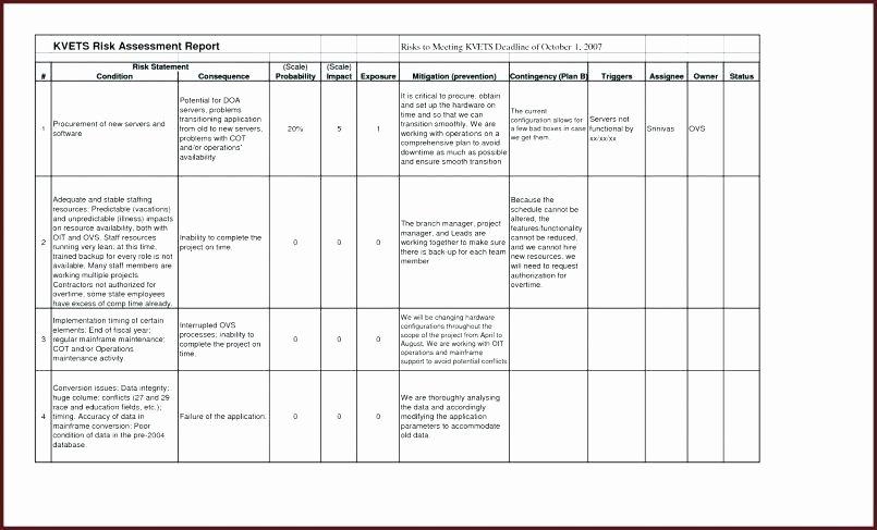 Risk assessment Report Template Awesome Risk Report Template – Bleachbathfo