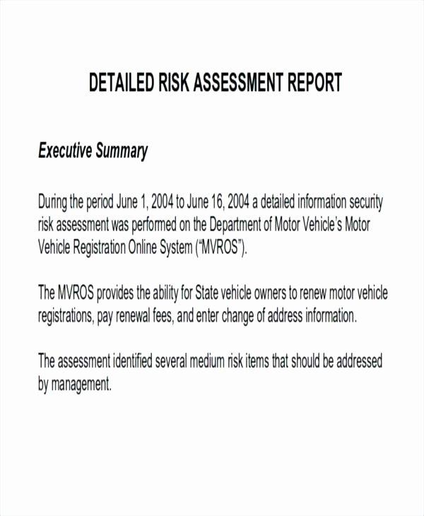 Risk assessment Report Template Lovely Screenshot Project Risk Checklist Change assessment