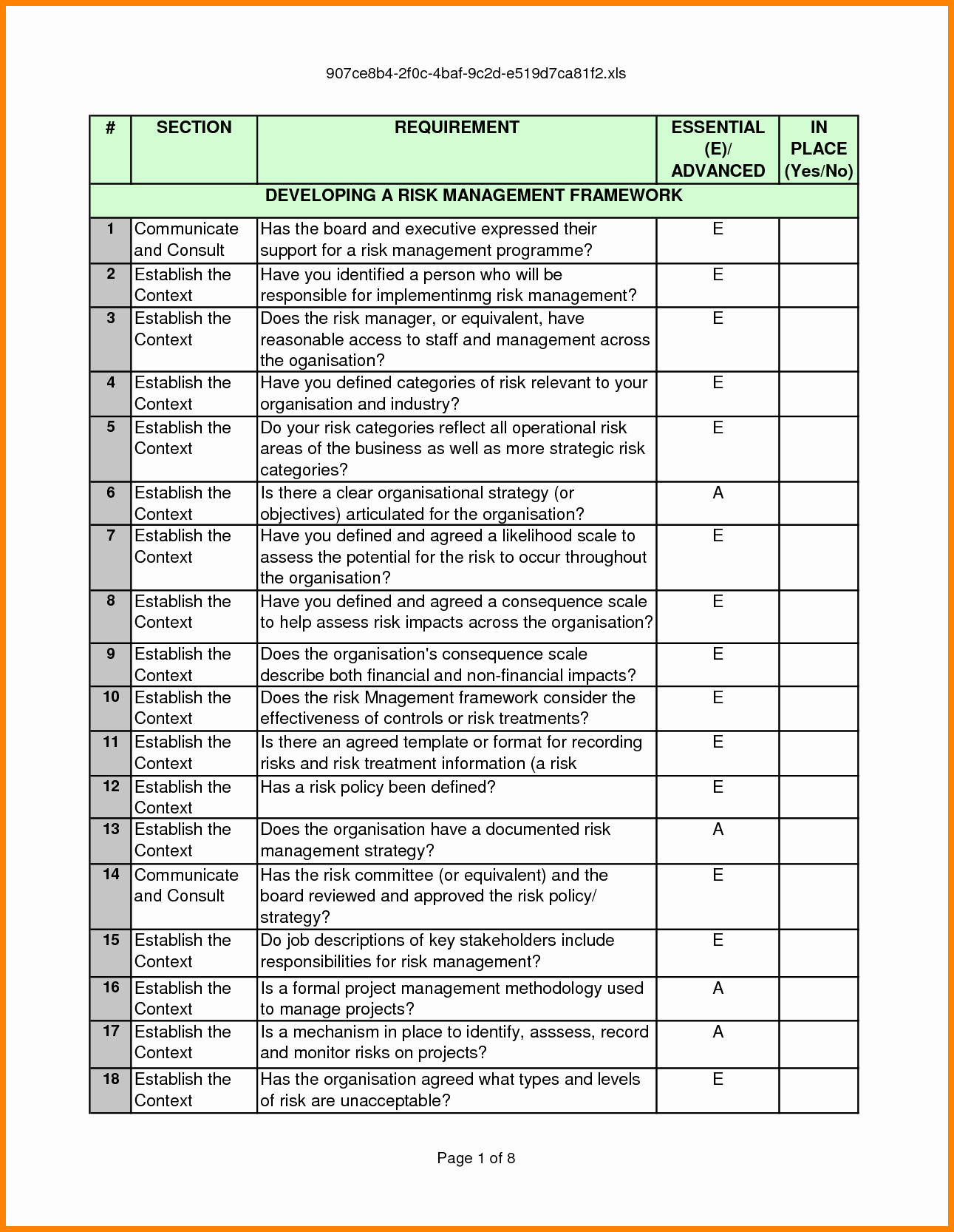 Risk Management Report Template Beautiful 5 Key Risk Indicators Template