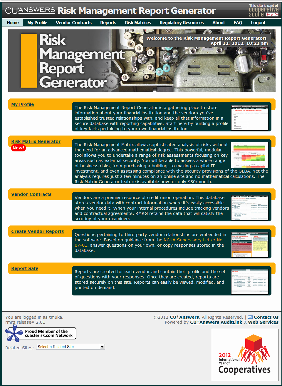 Risk Management Report Template Fresh Risk Management Report Template Templates Data