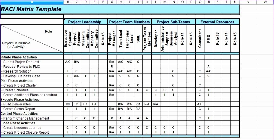 roles and responsibilities matrix template excel g2015