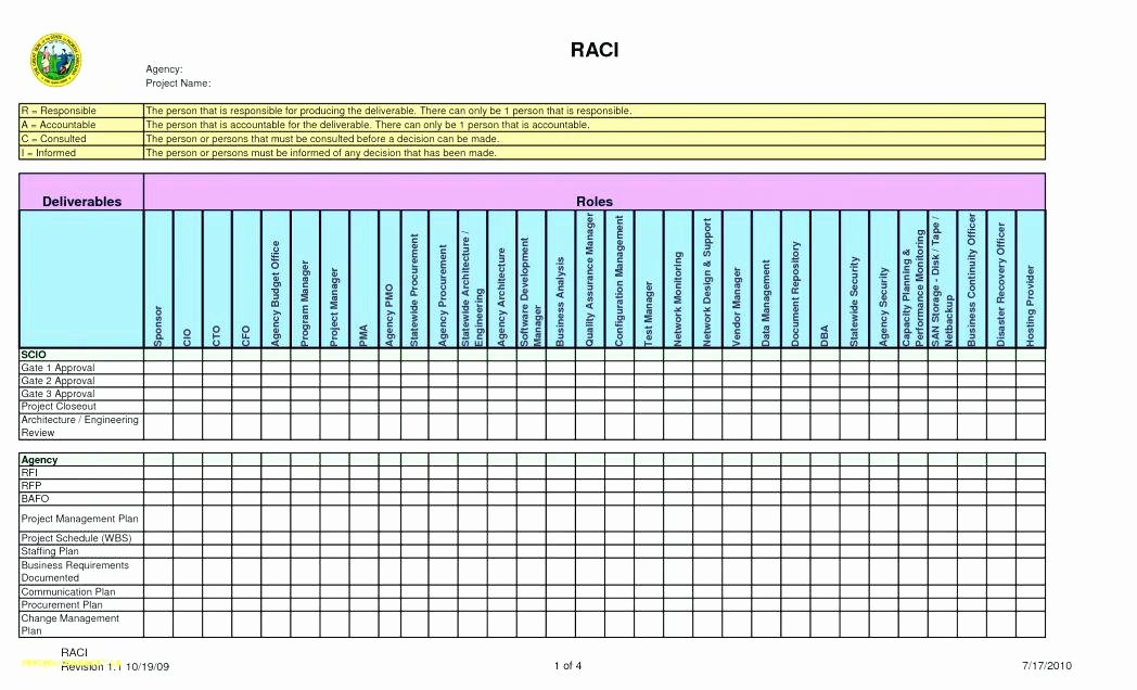 Roles and Responsibilities Template Excel Best Of 21 Free Raci Chart Templates Template Lab