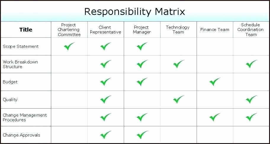 Roles and Responsibilities Template Excel Inspirational Roles and Responsibilities Matrix Template Excel Fresh