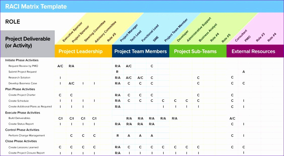 Roles and Responsibilities Template Excel Luxury 10 Roles and Responsibilities Matrix Template Excel