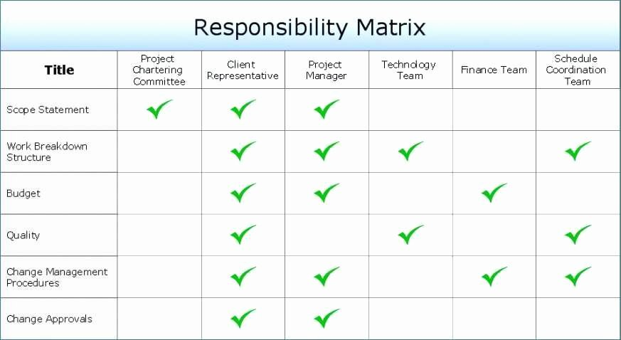 Roles and Responsibilities Template Excel New Task 2 Responsibility assignment Matrix Green P Flawless