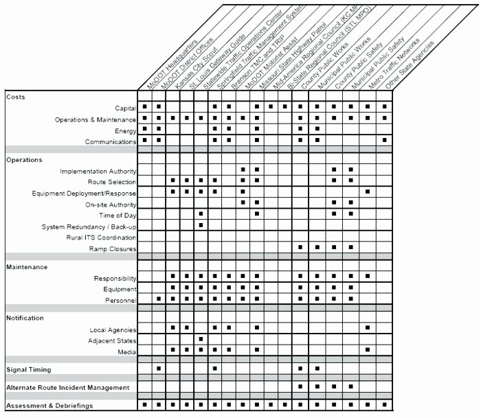 Roles and Responsibilities Template Excel Unique Responsibility Matrix Ppt In Project Management