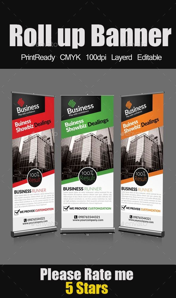 Roll Up Banner Template Awesome Roll Up Business Banners
