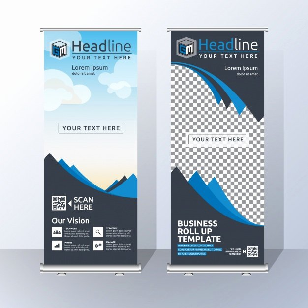 Roll Up Banner Template Awesome Roll Up Vectors S and Psd Files