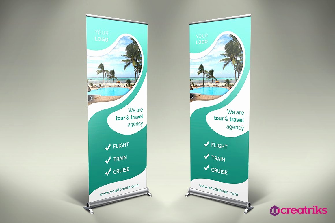 Roll Up Banner Template Awesome Travel Roll Up Banner V012 Other Presentation software
