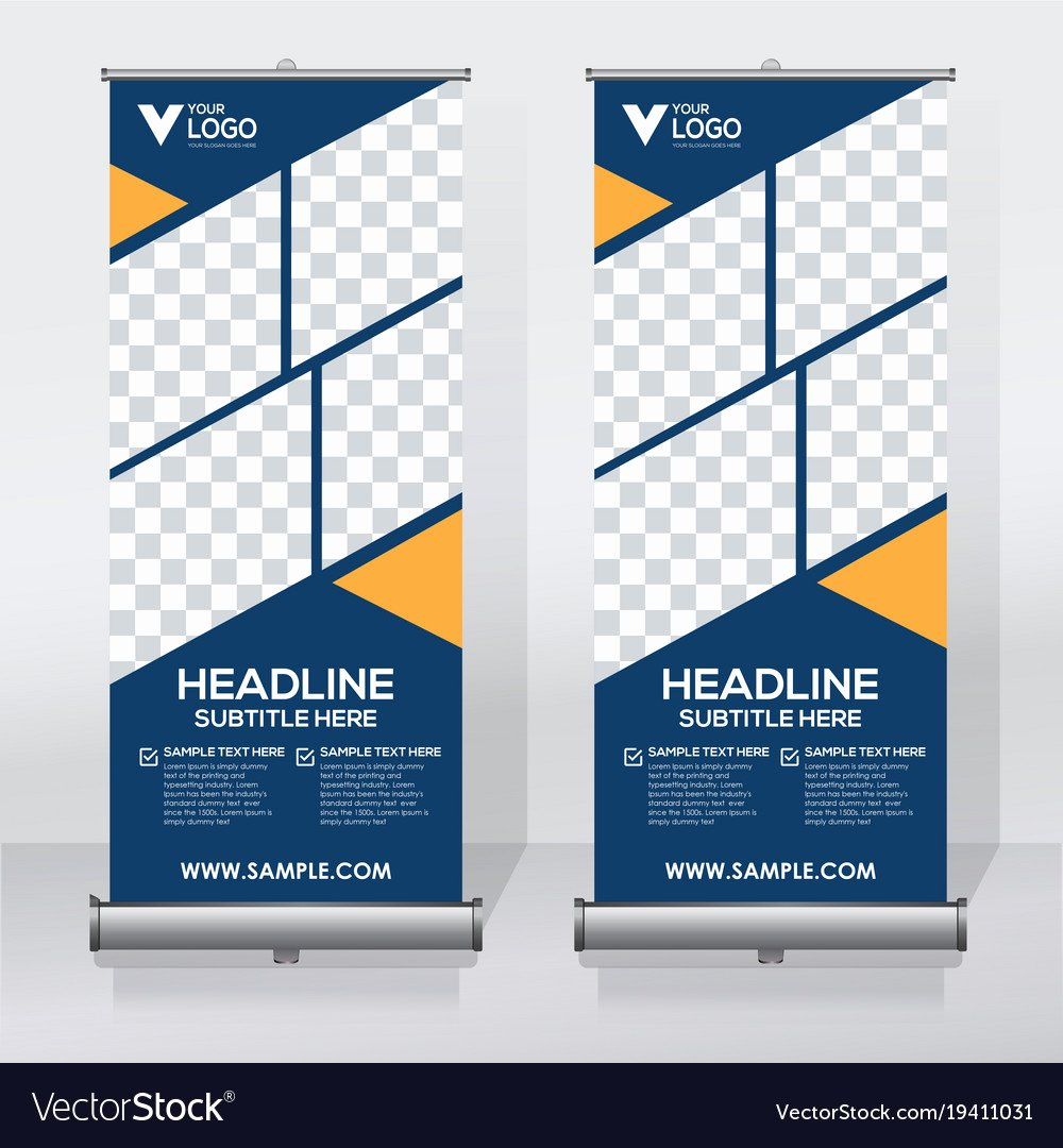 Roll Up Banner Template Elegant Creative Roll Up Banner Design Template Royalty Free Vector