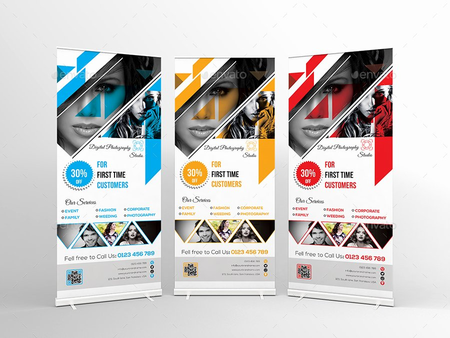 Roll Up Banner Template Elegant Graphy Roll Up Banner Template On Behance