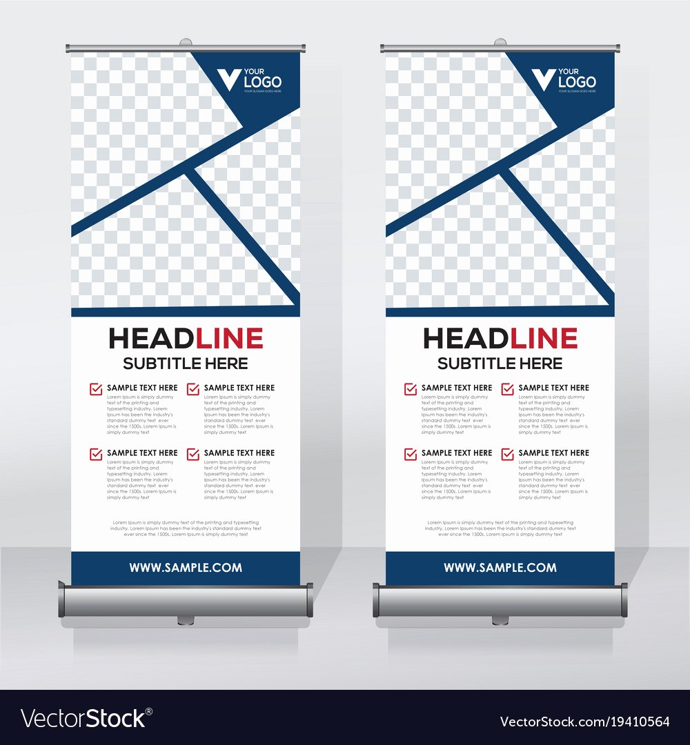 Roll Up Banner Template Fresh Creative Roll Up Banner Design Template Royalty Free Vector