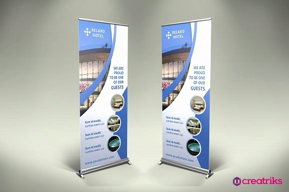 Roll Up Banner Template Lovely Hotel Roll Up Banner Flyer Templates Creative Market