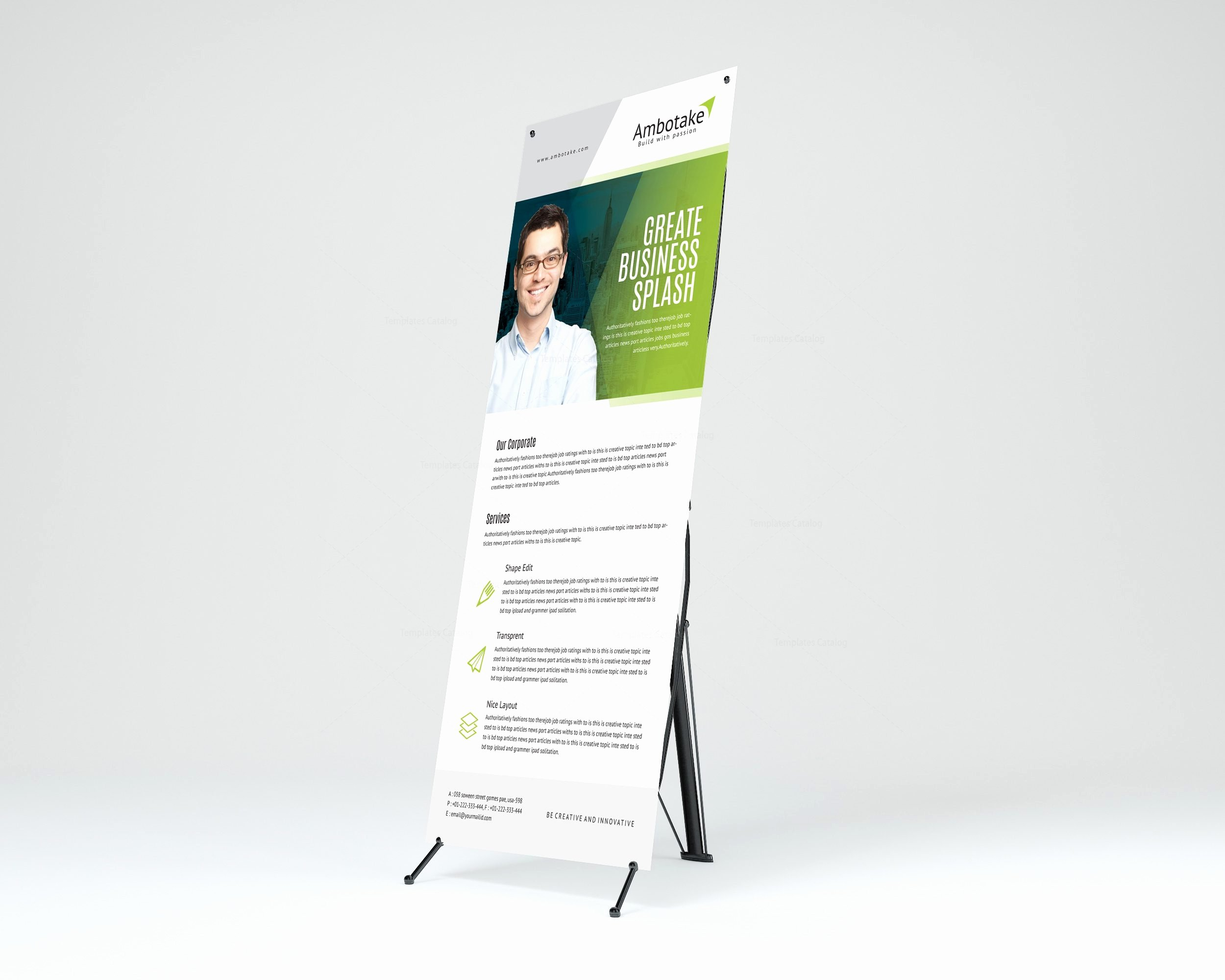 Roll Up Banner Template Luxury Apollo Corporate Roll Up Banner Template Template