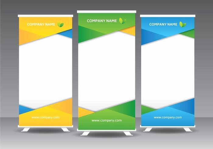 Roll Up Banner Template Unique Corporate Roll Up Banner Template Download Free Vector