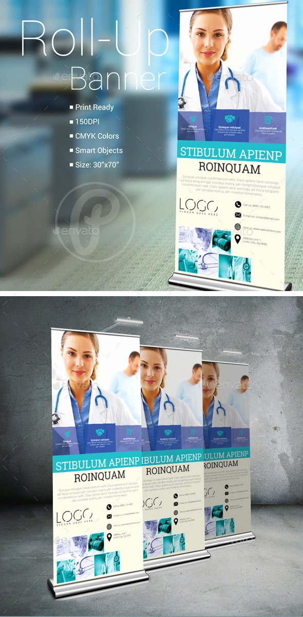 Roll Up Banner Template Unique Medical Roll Up Banner Signage Print Templates