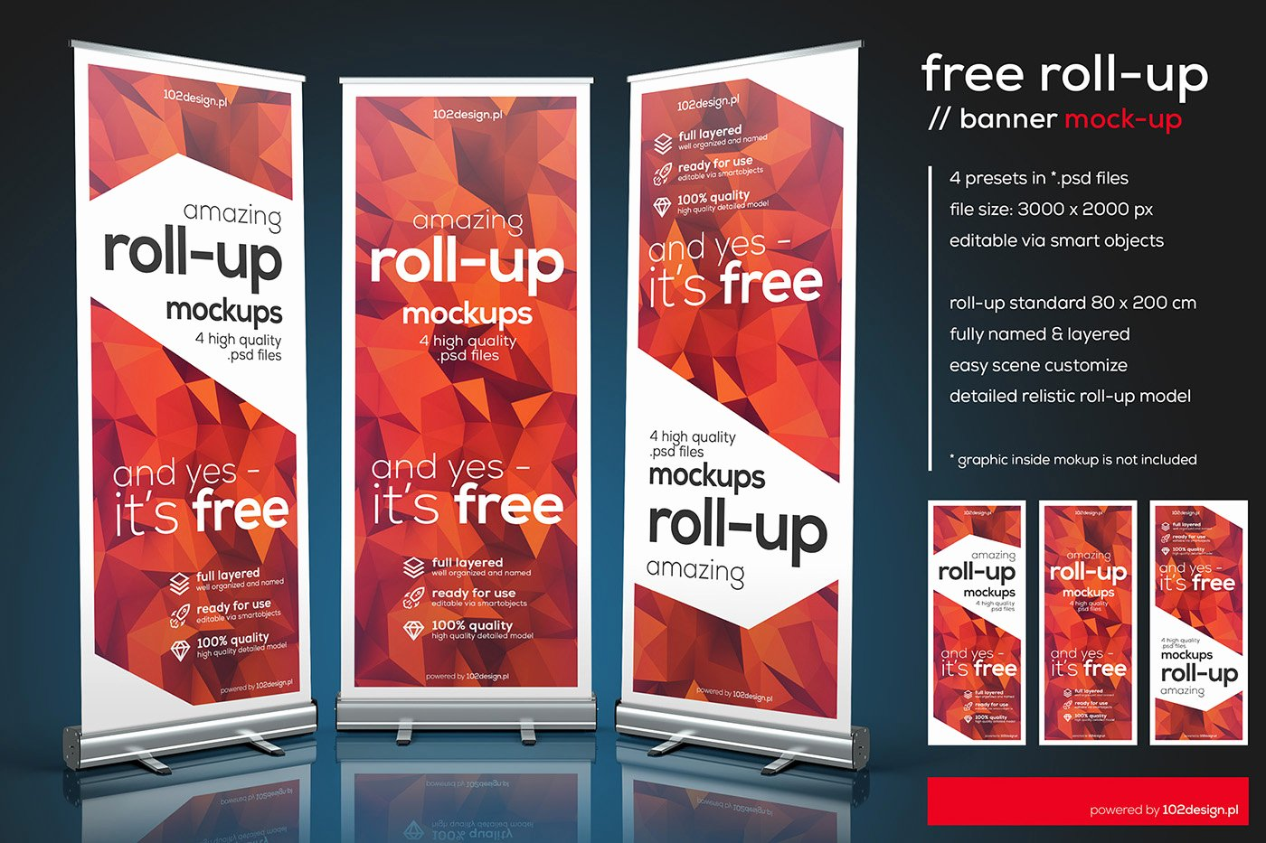 Roll Up Banners Template Awesome Free Psd Roll Up Mockup On Behance