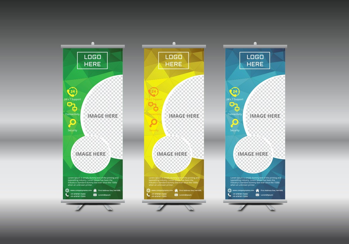 Roll Up Banners Template Awesome Roll Up Banner Template Vector Illustration Download