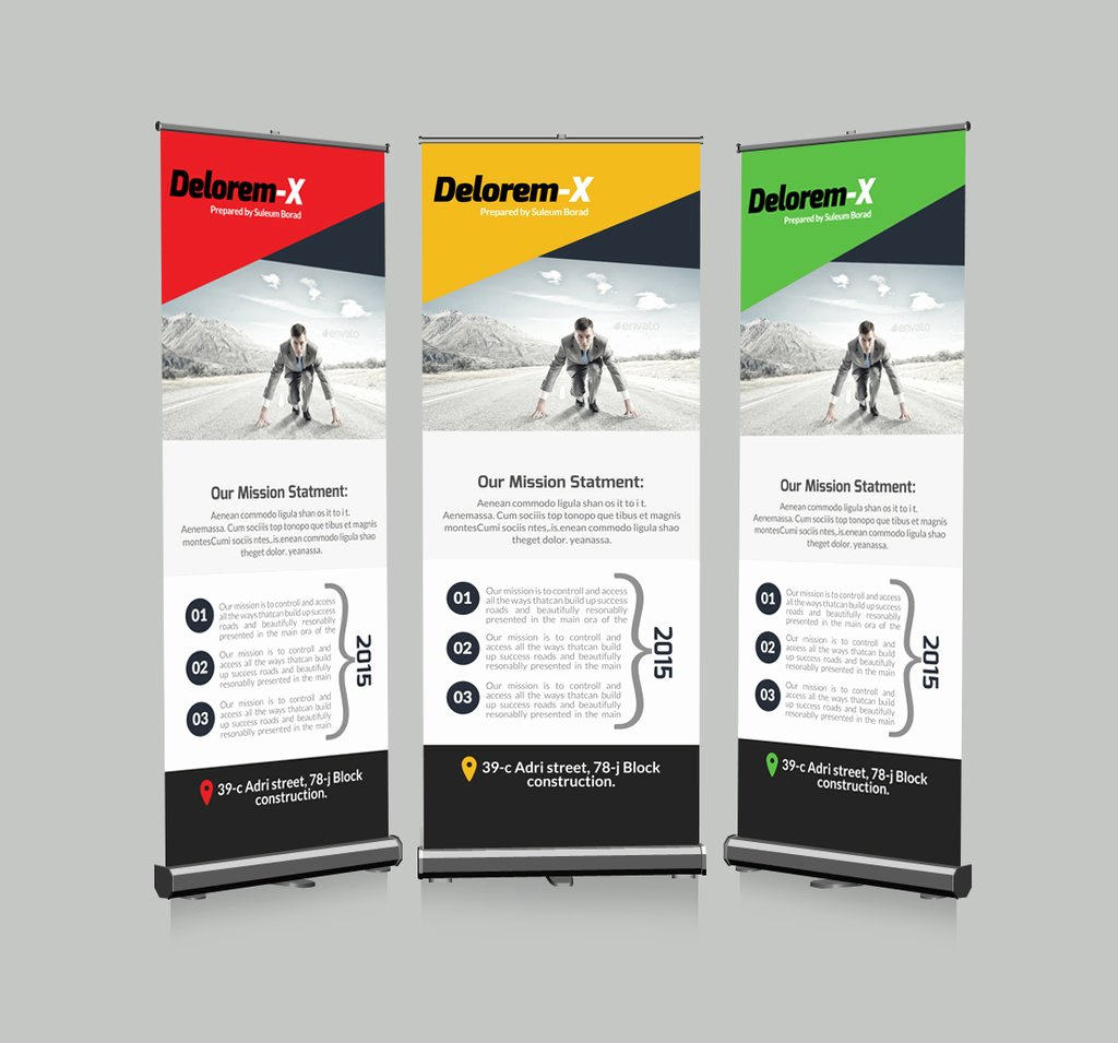 Roll Up Banners Template Beautiful Roll Up Business Banners Template by Designhub719 On