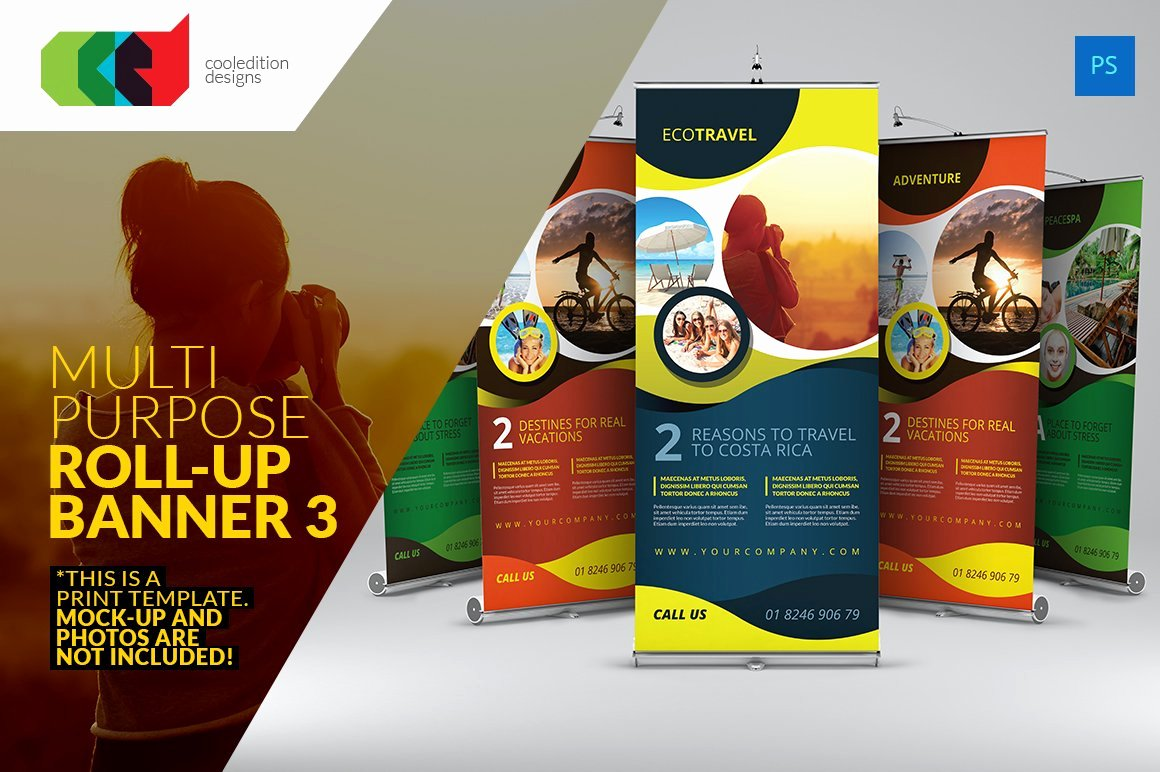 Roll Up Banners Template Best Of Multipurpose Roll Up Banner 3 Flyer Templates Creative