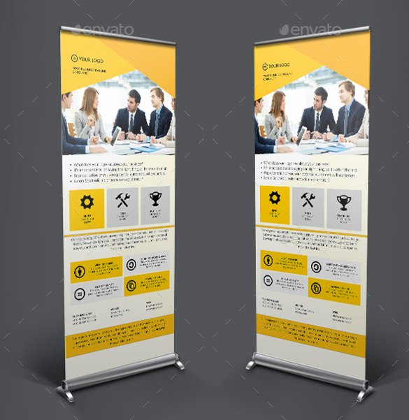 Roll Up Banners Template Elegant 36 Rollup Banner Templates Psd Illustrator