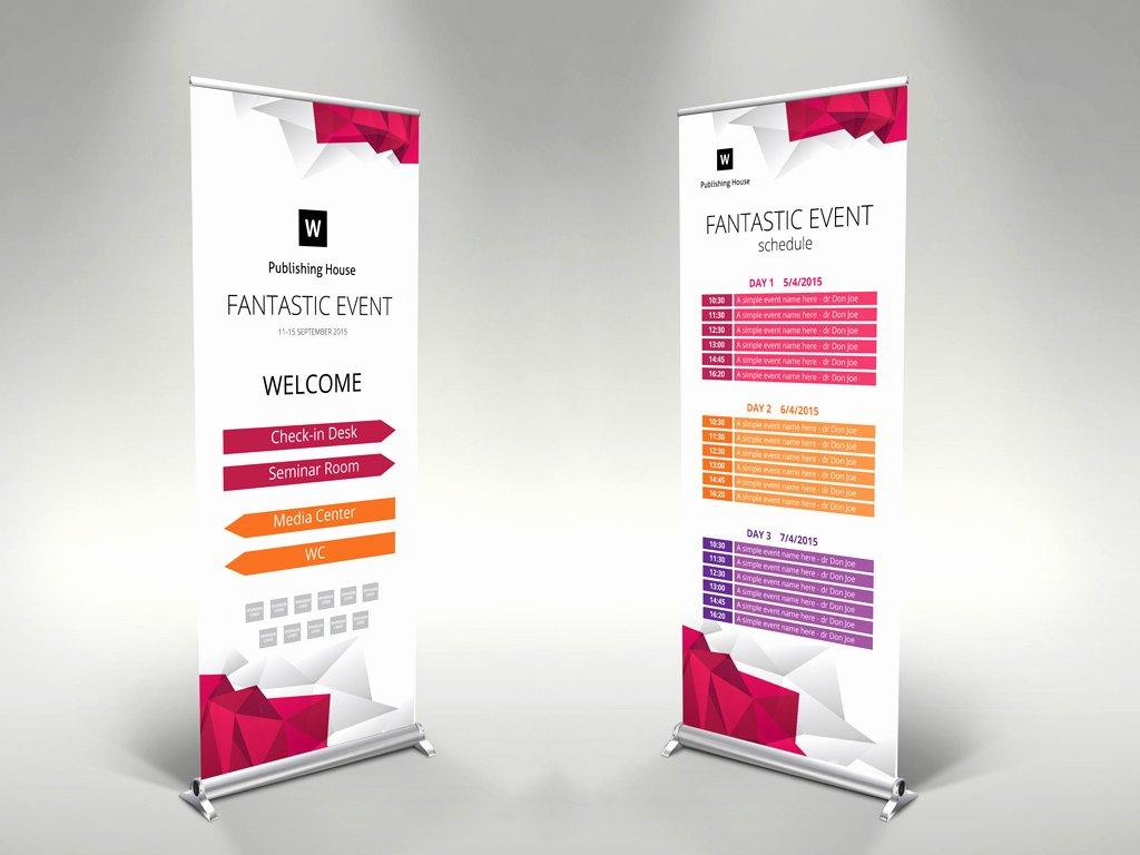 Roll Up Banners Template Elegant event Roll Up Banner Template – themzy Templates