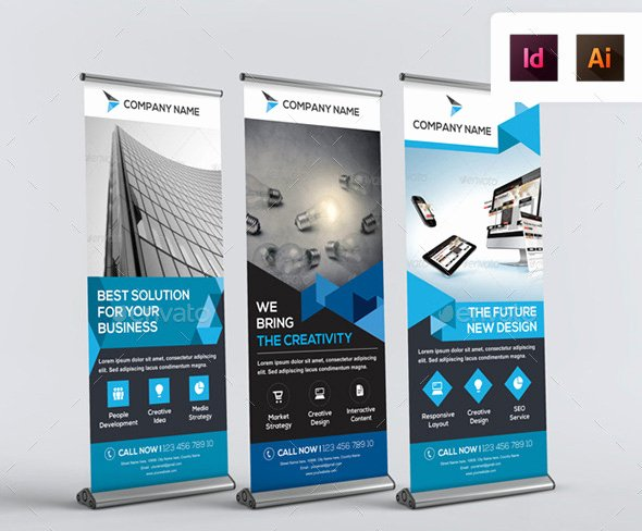 Roll Up Banners Template Fresh 20 Professional Roll Up Banners & Signage Templates