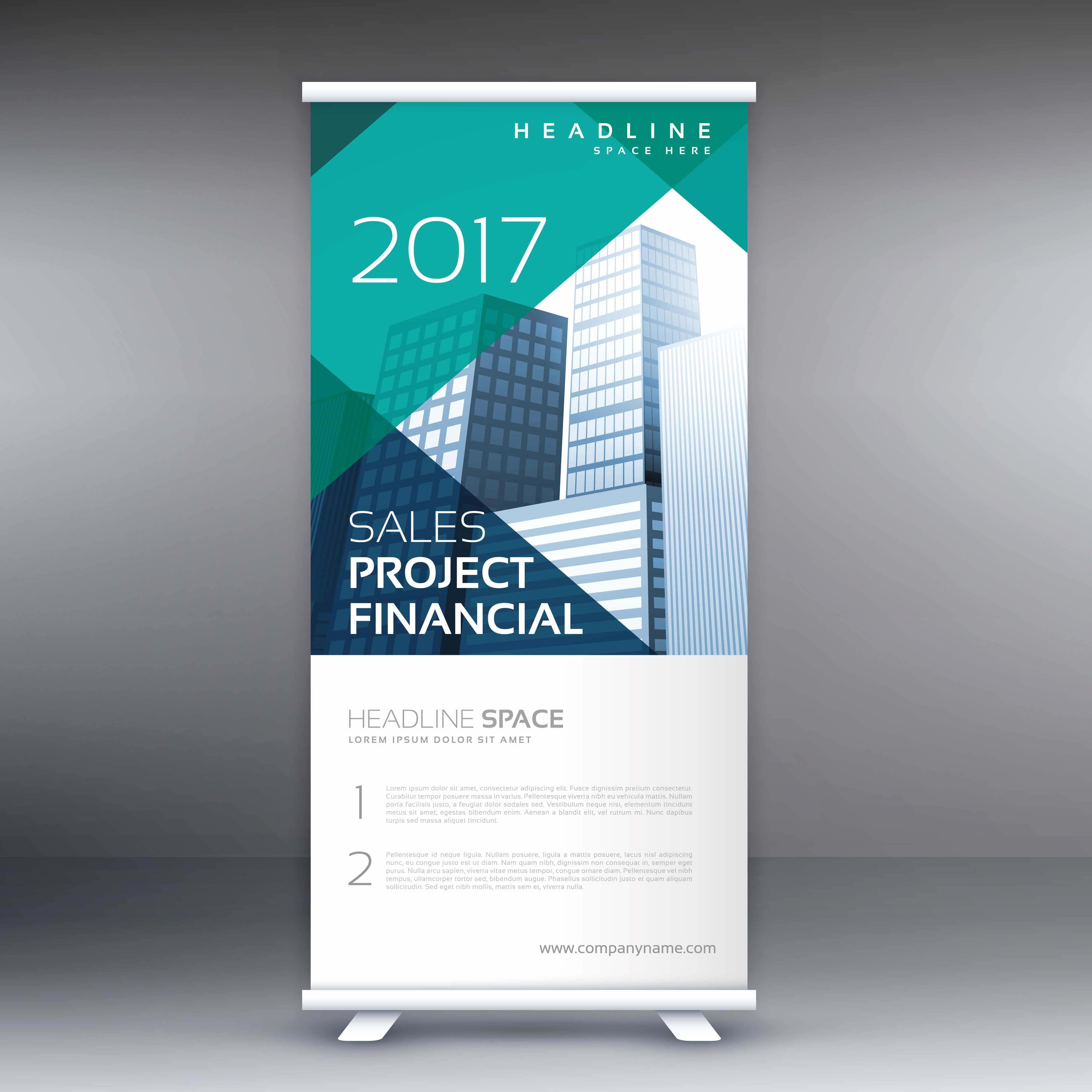 Roll Up Banners Template Inspirational Geometric Roll Up Banner Template Download Free Vector