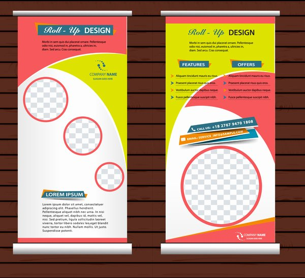 Roll Up Banners Template Inspirational Roll Up Template Free Vector 14 466 Free Vector