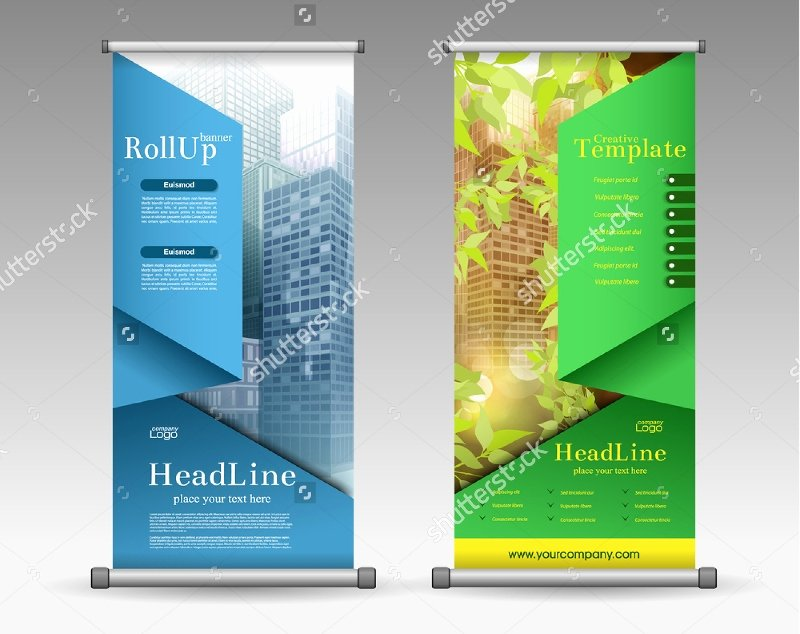 Roll Up Banners Template Lovely 37 Roll Up Banner Designs for Your Advertising Needs