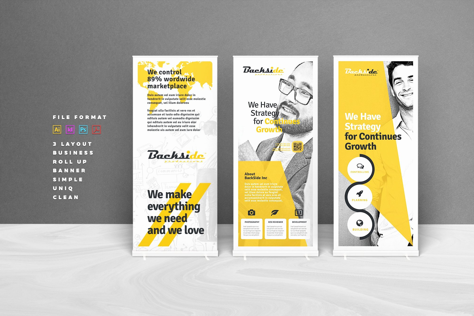 Roll Up Banners Template Lovely Roll Up Banner Flyer Templates Creative Market