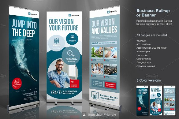 Roll Up Banners Template Luxury 36 Rollup Banner Templates Psd Illustrator