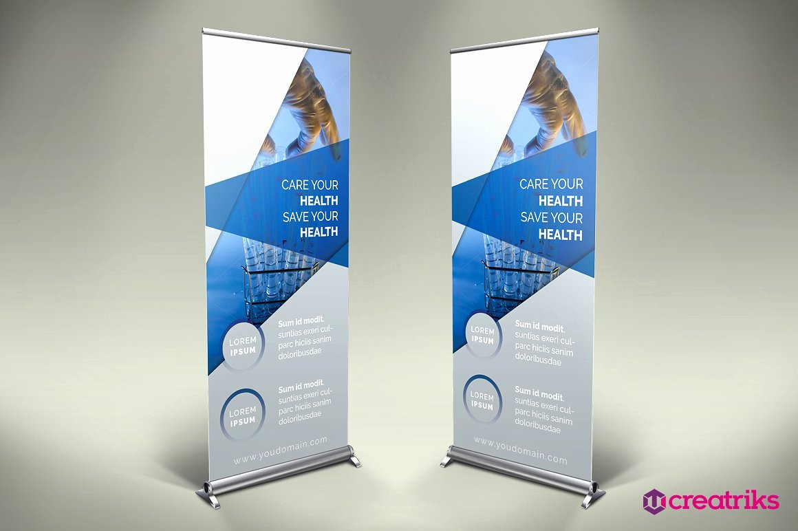 Roll Up Banners Template Luxury Medicine Roll Up Banner V003 Other Presentation