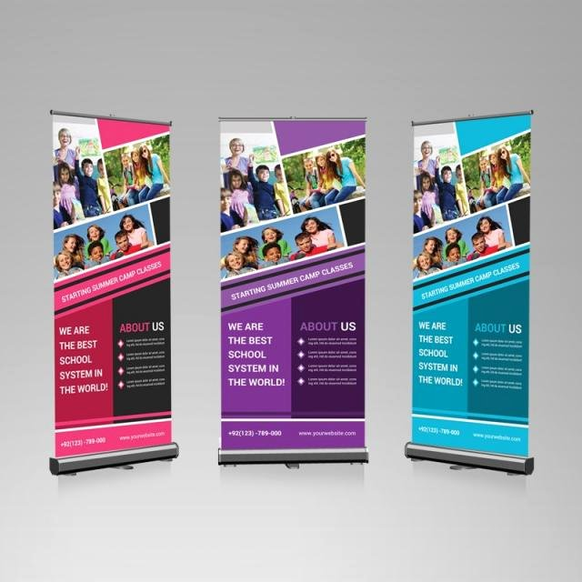 Roll Up Banners Template Luxury Photography Roll Up Banner Template for Free Download On